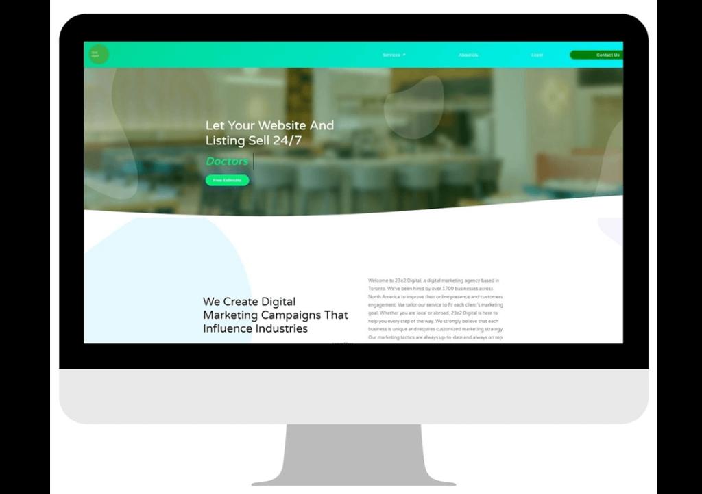 homepage of 23e2