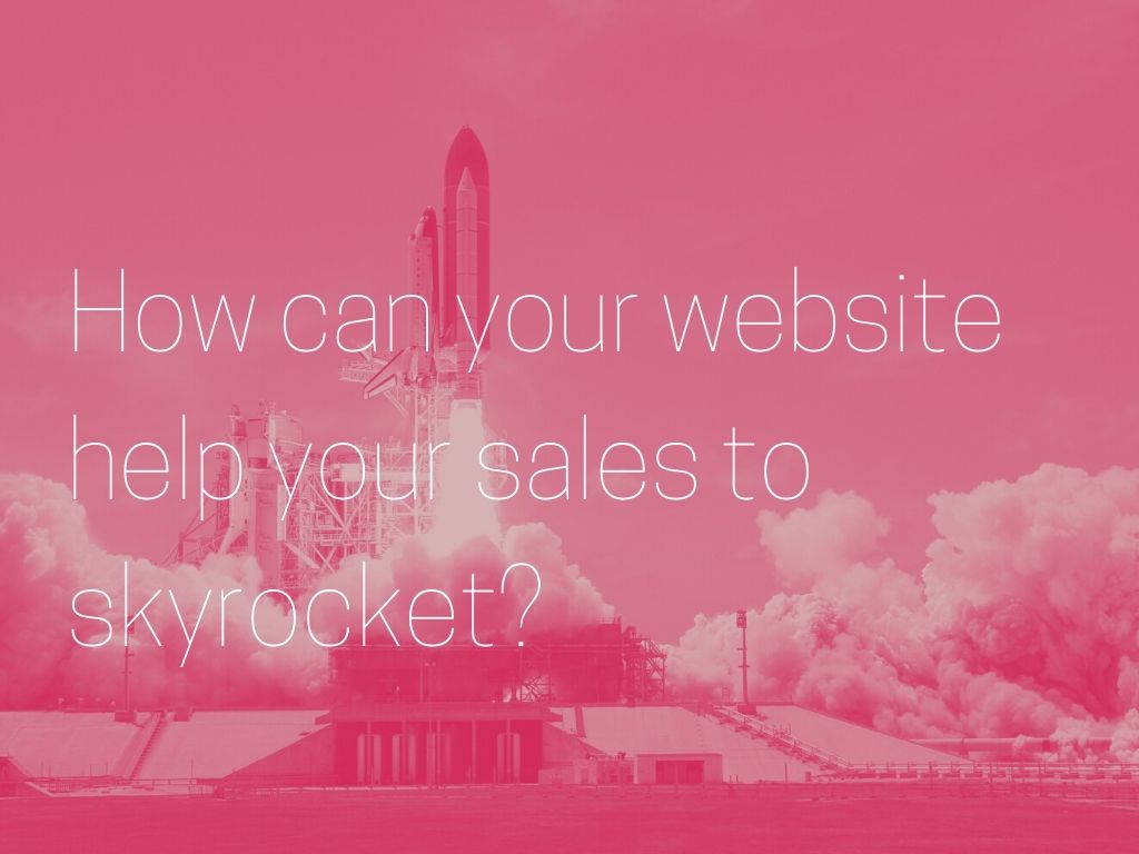 increase sales with your website