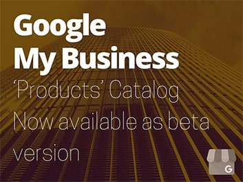 google my business product catalog