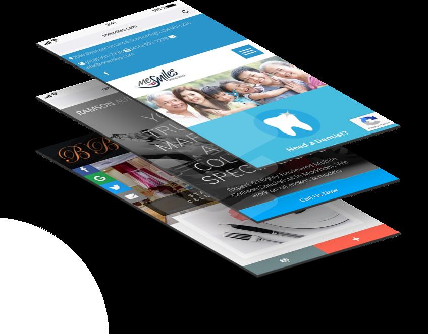 Website design for mobile and desktop