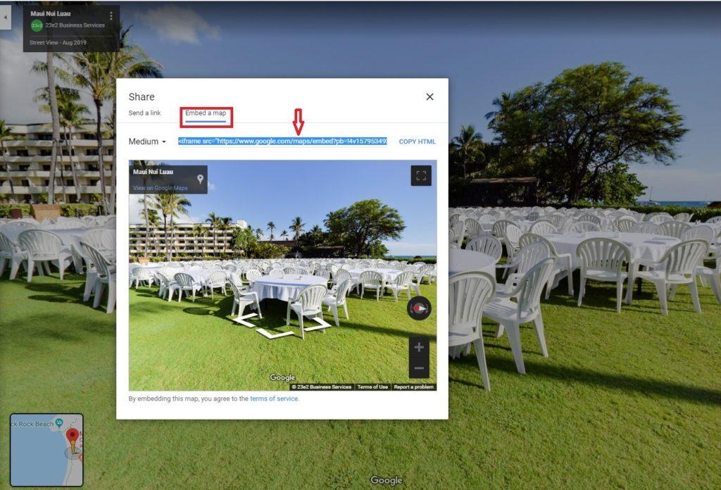 embed google virtual tour