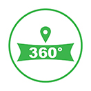 google 360 virtual tour icon