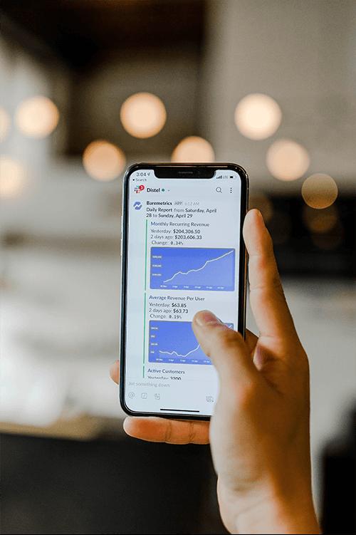 browsing through social media on phone