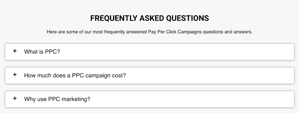 frequently asked questions about ppc