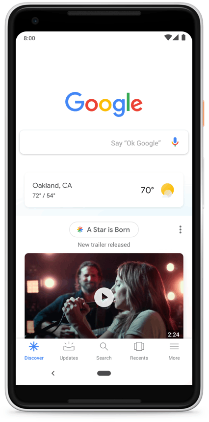google discover page