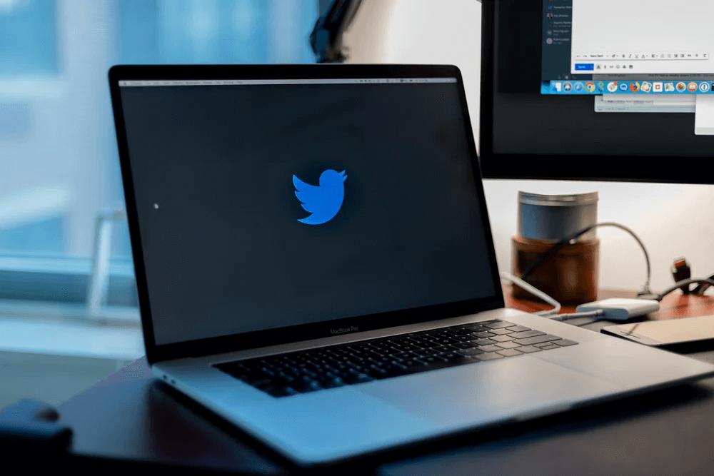 twitter on a laptop screen