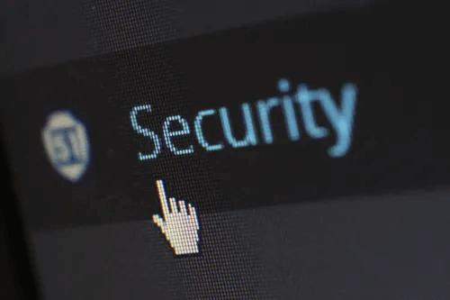 cursor over security button
