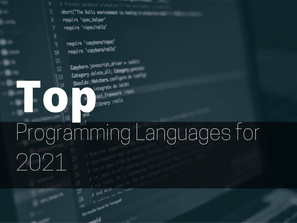 top programming languages for 2021