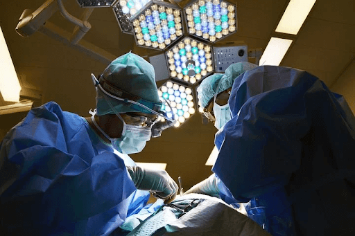 surgeon conducting surgery