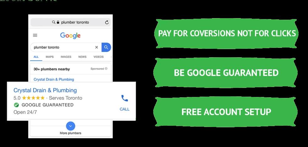 benefits of google guaranteed