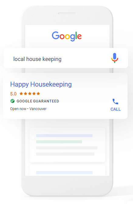 google guaranteed listings