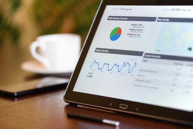 data metrics on screen
