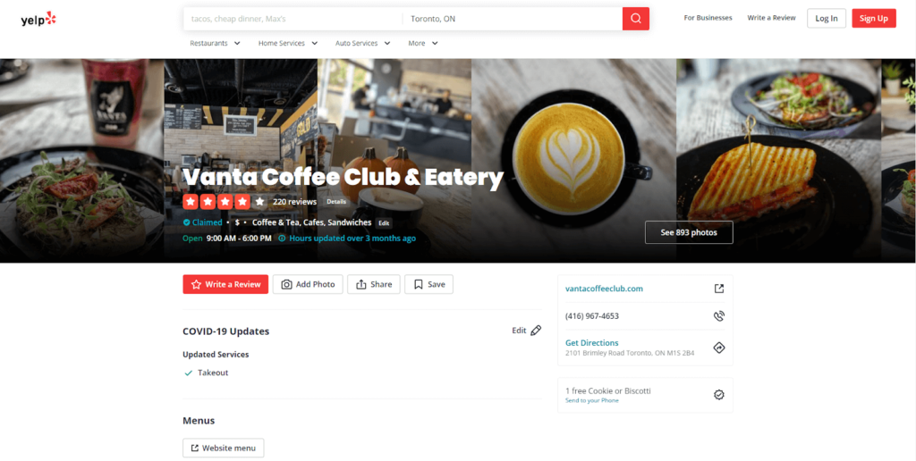 yelp for local seo