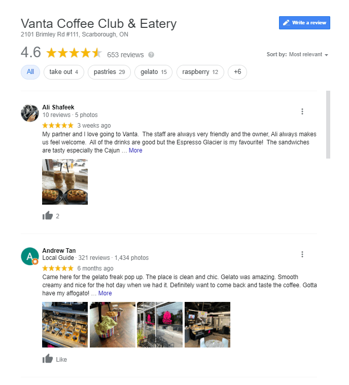 google star ratings for local seo